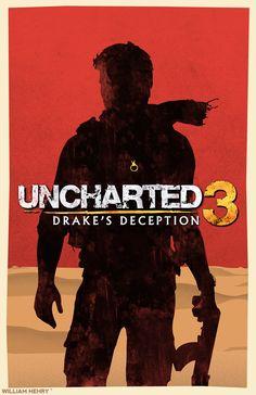 Uncharted 3: Drakes Deception poster by billpyle.deviantart.com on @deviantART #gamer #geek #ps3