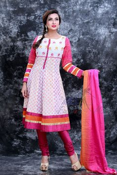 Screen print and embroidered on cotton fabrics, pure orna. Fashion Maker, Screen Printing, Cotton Fabric, Pure Products, Eid, Womens Fashion, Fabrics, Style, Screen Printing Press