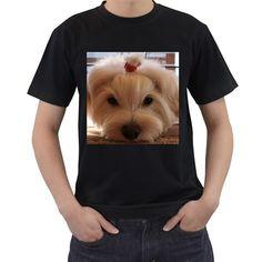 Maltese+3+Men's+T-Shirt+(Black)