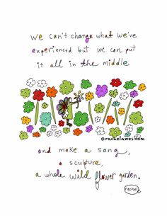 A Whole Wildflower Garden. Art print by Rachel Awes. Self Compassion, Kindred Spirits, Garden Art, Wild Flowers, The Dreamers, Etsy Seller, Visual Journals, Doodles, Songs