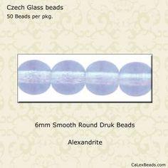 50 6mm Montana Blue Czech Smooth Round Glass Beads