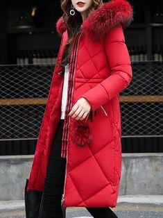 Women s Fur Shearling Down Jacket Long Coat fd34580dda01