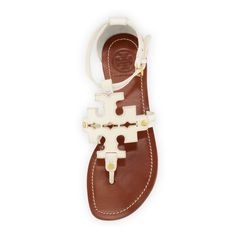 Tory Burch shoes New with tag. Flat thong-tumbled leather. Tory Burch Shoes