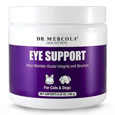 Dr Mercola Eye Support For Pets  180 Grams  Helps Maintain Ocular Integrity and Structure  Natural LiverFlavor Powder ** Want additional info? Click on the image. #style