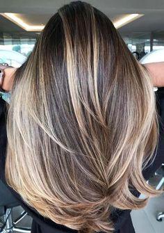 Adorable Balayage Hair Color Ideas to Follow in Year 2021 | Stylezco Hair Color Highlights, Hair Color Balayage, Straight Hairstyles, Cool Hairstyles, Cool Hair Color, Hair Colors, Color Trends, Long Hair Styles, Instagram