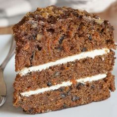 Carrot Cake With Mini Chocolate Chips And Nuts Recipe