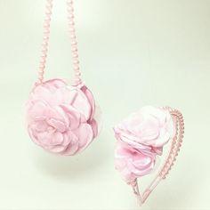 Conjunto Infantil - Pink (Tiara e bolsa)