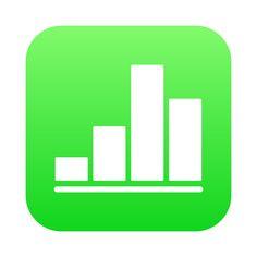 Icône iOS Numbers HD⎪Vector illustrator (ai.)