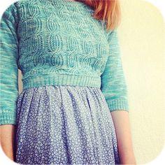 Tutorial; sy om en stickad tröja till en midjekort jumper - EmilyDahl