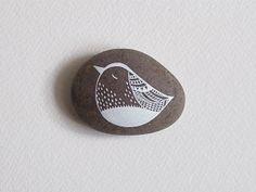 White Bird 2 - Painted Stone - by Natasha Newton Pebble Painting, Pebble Art, Stone Painting, Rock Painting, Mandala, Rock And Pebbles, Nature Collection, Rock Crafts, Fun Crafts