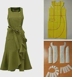 753 curtidas, 11 comentários - Альбина Скрипка ( n. Sewing Dress, Dress Sewing Patterns, Diy Dress, Sewing Clothes, Clothing Patterns, Sewing Diy, K Fashion, Fashion Sewing, Robe Diy