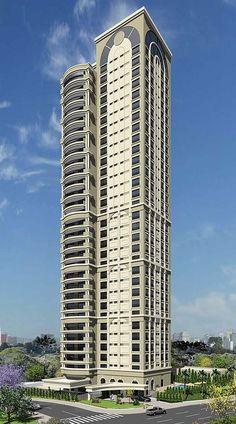 Belluno - 589m² - Ecovile - Curitiba Tower Building, Building Facade, Building Structure, Future Buildings, Unique Buildings, Commercial Architecture, Facade Architecture, Minecraft Building Guide, Building Elevation