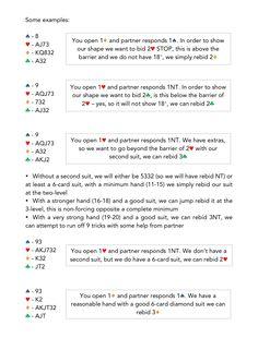 BIDDING: Examples Opener's rebid - No Fit and an unbalanced hand (Cambridge University Bridge Club) Bridge Rules, Bridge Card Game, Cambridge University, I Am Game, Poker, Galaxies, Card Games, Mexican, Train