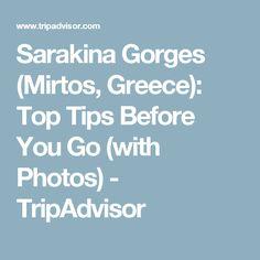 Sarakina Gorges (Mirtos, Greece): Top Tips Before You Go (with Photos) - TripAdvisor