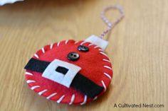 DIY felt Santa ornament                                                                                                                                                                                 More