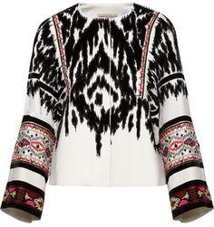 Emilio Pucci Embellished flocked twill jacket