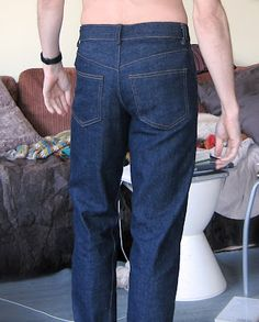 Kwik Sew jeans from rear