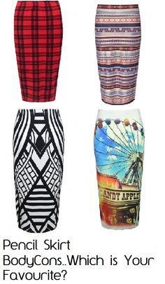 Pencil Skirt Body-Cons from us at FD Avenue, which your favourite girls? ..
