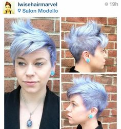 MODERN Instagram follower @lwisehairmarvel creates a silver finish using Pravana Vivids hair color.