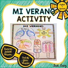 My Summer Activity in Spanish and EnglishIncludes 6 versions:Back to School version 1 in Spanish (for Level 2): Students fill this in to reflect on their past summer.  This one does not require students to construct the preterite. It uses Qu te gust hacer?