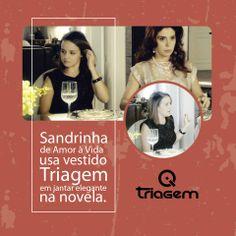 A personagem Sandrinha de Amor à vida usa Triagem Jeans.