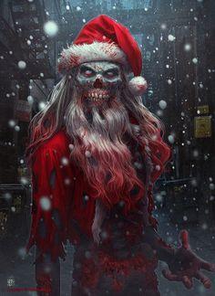 Zombie Claus by Kerem Beyit