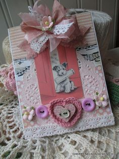vintage TERRIER card-ALL OCCASION handmade card      CARDS DO NOT COME WITH ENVELOPES