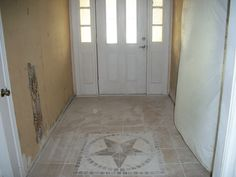 Check out the new entryway with custom tile