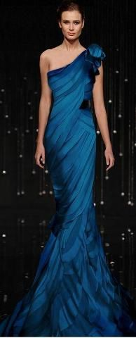 I would totally wear this georgeous gown by Jean Fares