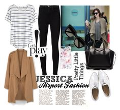 """Jessica Jung Airport Fashion"" by rifdaadf on Polyvore featuring Madewell, MANGO, Givenchy, Frame Denim, Yves Saint Laurent and Casetify"