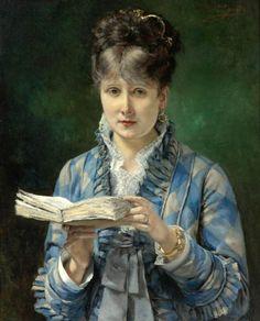 """""""La Lectora"""" del españo Eduardo Leon Garrido (1856-1949)"""