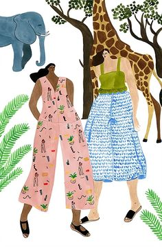 Isabelle Feliu · Fashion illustrator based in Oslo · Selected Work · Watercolor & Ink