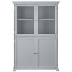 Could use an old Breakfront/China Cabinet as a linen closet in a bathroom! Home Decorators Collection Hampton Harbor 36 in. W x 14 in. D x in. H Linen Storage Cabinet in Dove - The Home Depot White Linen Cabinet, Linen Storage Cabinet, Bathroom Linen Cabinet, Linen Cabinets, Diy Cabinets, Linen Closet In Bathroom, White Bathroom Storage Cabinet, Laundry Room, Bathroom Linen Tower