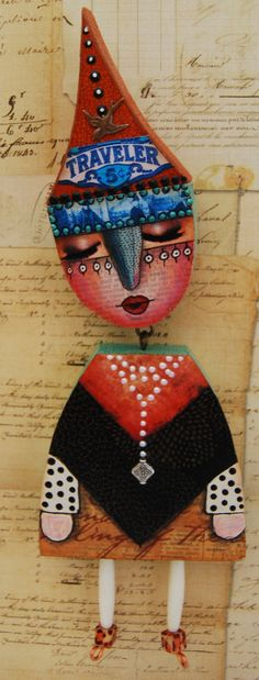 Altered Art Dolls | Altered Expression Art Doll The Traveler by desertdreamstudios