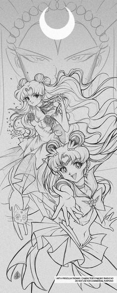 SAILOR and LUNA by *TholiaArt on deviantART