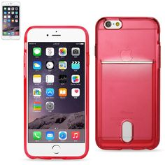 Reiko Tpu Wallet Case For Iphone 6-6S Plus 5.5Inch Transparent Red