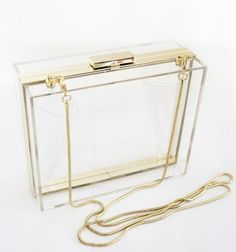 Try out the clear clutch trend without breaking the bank - we love this minimalist style