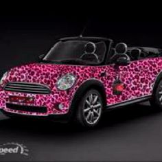 Pink & leopard print Mini cooper, not to everyone's taste, but I love it!