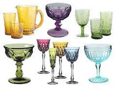 coloured glassware - Google Search
