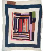 Astoundingly beautiful Gees Bend quilt.
