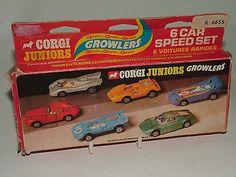 #Corgi juniors growlers boxed six car speed set #no.e3071 v12 e type #ferrari ++,  View more on the LINK: http://www.zeppy.io/product/gb/2/391466142022/