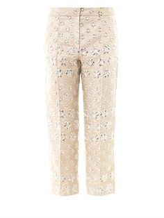Roksanda Ilincic gives smart tailoring a feminine twist with these Montague floral trousers. Highlight the metallic jacquard with silver pumps and keep separates neutral for a sophisticated look.