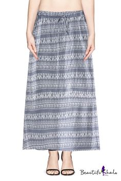 ☀Drawstring skirts are super comfortable and great for festivals☀ Long Drawstring indigo blue maxi skirt. Click through picture and click on text to follow through to link or follow http://www.beautifulhalo.com/color-block-drawstring-waist-midi-skirt-tube-dress-p-121147.html?track=tb2529