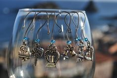 """Hooked on Wine collection """"Wedding Bells"""" wedding themed wine glass charms. $15.00, via Etsy.  www.facebook.com/love.lizzie.lou"""