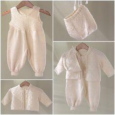 Ravelry: kirstisi's Hentesett til jente Baby Sweater Knitting Pattern, Baby Knitting Patterns, Baby Patterns, Crochet Baby, Knit Crochet, Baby Dungarees, Baby Barn, Romper Pattern, Baby Pants