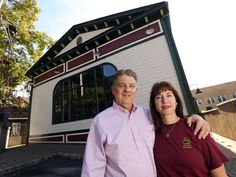 Business principals Pat and Ann Cox, who owned the Opera House building and oversaw restoration at the new home of Marketing company iMedia that calls its home in an unusual office space inside the newly restored Boonton Opera House. October 12, 2016, Boonton, NJ. (Photo: Bob Karp/Staff Photographer)