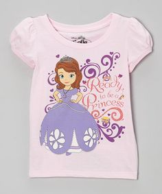 Look what I found on Light Pink Sofia  Ready to be a Princess  Cap-Sleeve  Tee - Toddler by Sofia the First 4be4d47bf
