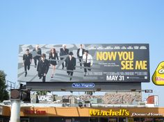 Now You See Me movie billboards...