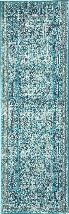 Light Blue 2' 2 x 6' 7 Palazzo Runner Rug | Area Rugs | eSaleRugs