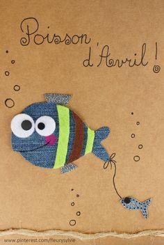 Poisson d'Avril !! #jeans #recycle Recyclage des pantalons https://pinterest.com/fleurysylvie/mes-creas-la-collec/ et www.toutpetitrien.ch